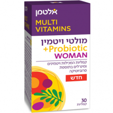 Мультивитамины для женщин с пробиотиками, Multi Vitamin Probiotic Woman Altman 30 таблеток