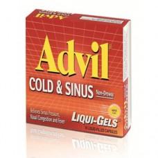 "Адвил ибупрофен взрослый ""Анти-грипп"", Advil Ibuprofen For Adults ""Cold&Sinus"" 16 gel capsules"