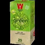 Зеленый чай с имбирем и лемонграссом Wissotzky Green Tea with Lemongrass and Ginger Wissotzky 25 пак*1.5 гр